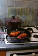 BBQ Chicken Cooking